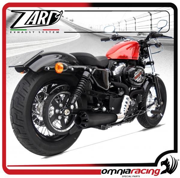 Zard Cross Black Racing for Harley Davidson Sportster 883/1200 03>13 Full  Exhaust System