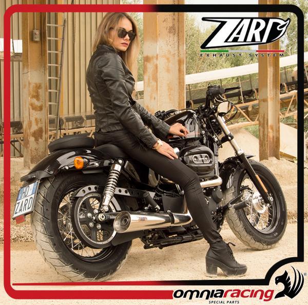 Zard Joker Steel Homologated for Harley Davidson Sportster 883/1200 03>13  Full Exhaust System