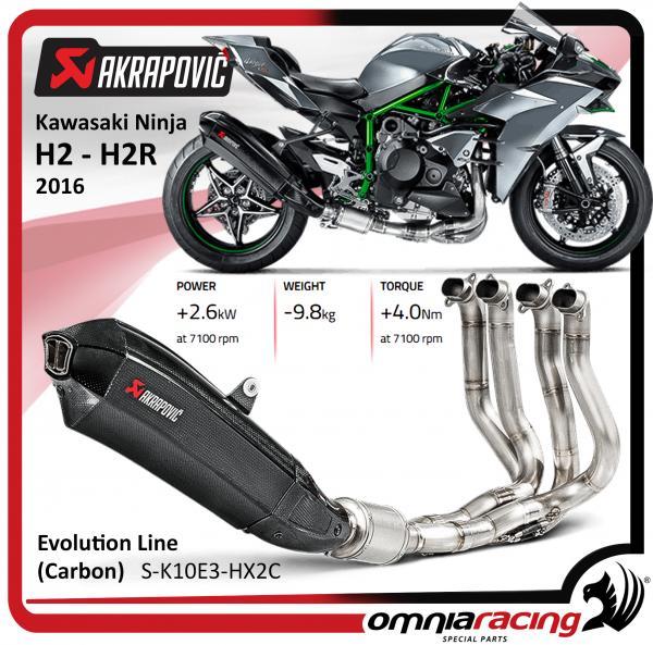 Akrapovic Carbon Full Exhaust System Not Kawasaki Ninja H2h2r 2016