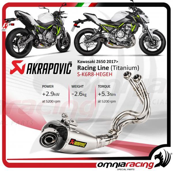Akrapovic Evolution Line Full Exhaust System Titanium For Kawasaki Z650 2017