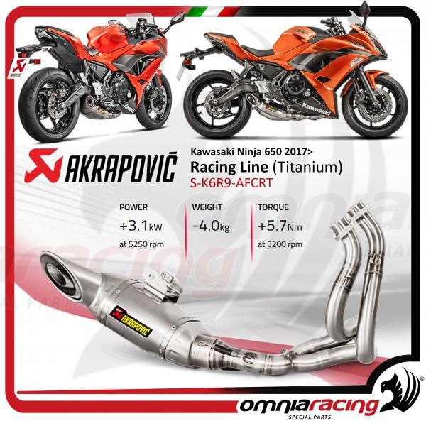 Akrapovic Racing Line Full Exhaust System Titanium Not Homologated For Kawasaki Ninja 650 2017 17