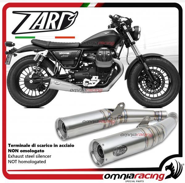 Details about Zard 2 exhausts slipon silencer racing Moto Guzzi V9  Bobber/Roamer 17>
