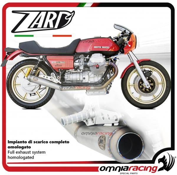 Zard full exhaust system - steel silencer and steel colectors racing 2:2  for Moto Guzzi Le Mans