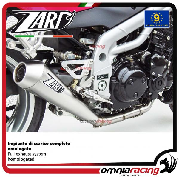 Zard Full Exhaust System Steel Silencer Homologated For Triumph Speed Triple 955 0204