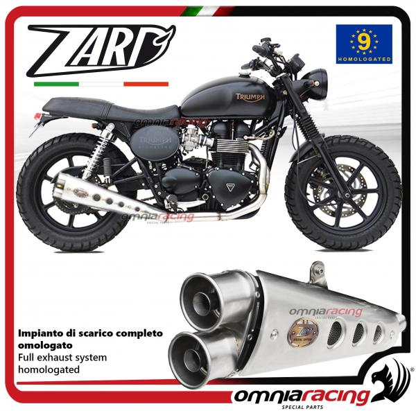 Zard full exhaust system steel silencer homologated for Triumph Bonneville  Injection