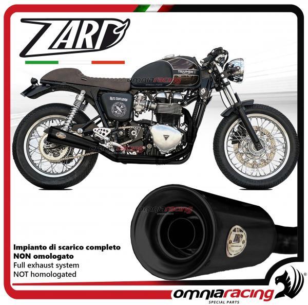 Zard full exhaust system steel black silencer not homologated for Triumph  Bonneville carburetor