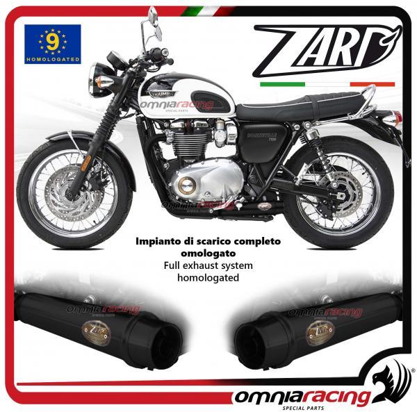 Zard Full Exhaust System Steel Black Silencer Homologated For