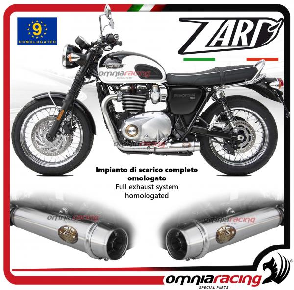 Zard Full Exhaust System Steel Silencer Homologated For Triumph