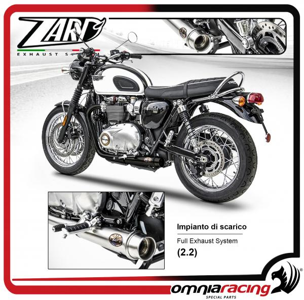 Zard Full Exhaust System 2 2 Racing Stainless Steel Black Ceramic