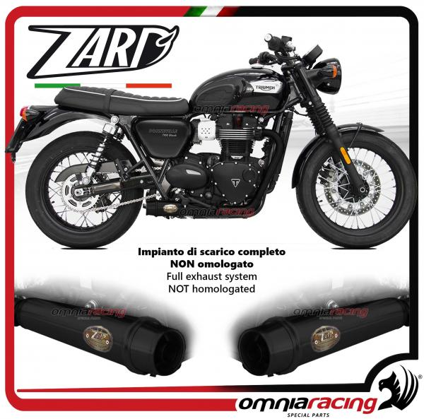 Zard Full Exhaust System Steel Black Silencer Non Homologated For