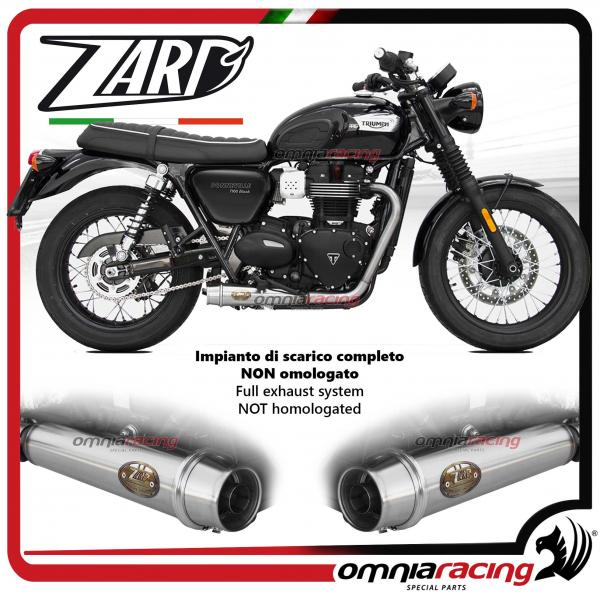 Zard Full Exhaust System Silencer Not Homologated Triumph Bonneville