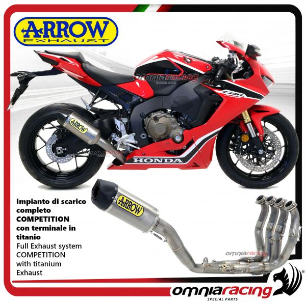 Arrow Full Exhaust System Competition Titanium Silencer For Honda