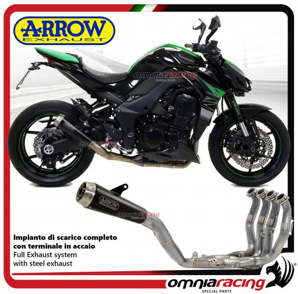 Arrow Full Exhaust System Pro Racing Steel Black Silencer Not