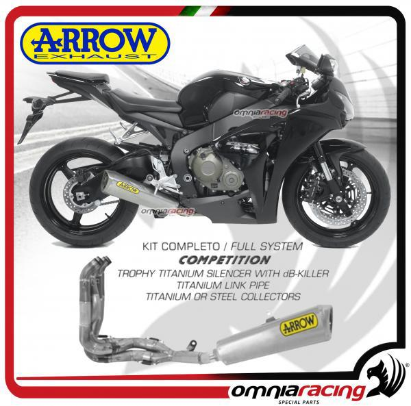 Arrow Full Exhaust System Competition Titanium Collect Steel For