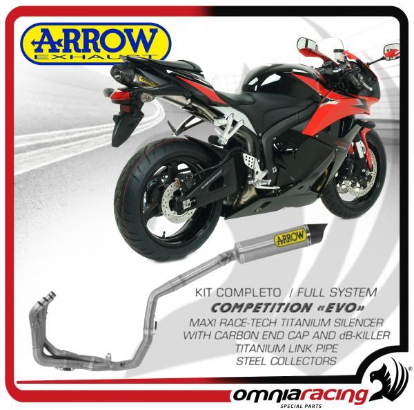 Arrow Full Exhaust System Competition Evo Titanium For Honda Cbr 600 Rr Abs 09 12