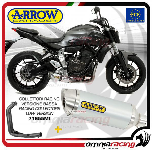 Arrow Full Exhaust System Thunder aluminium Low version Silencer for Yamaha  MT-07 14>17