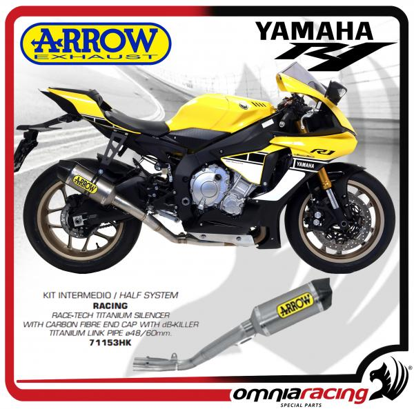 Arrow Half System Racing Race-Tech Silencer Titanium for Yamaha YZF R1/ R1M  2015>