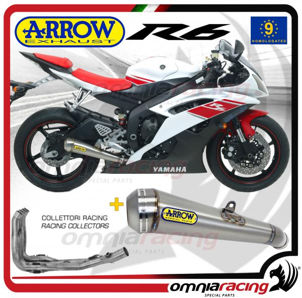 Arrow Full Exhaust System Pro-Race Titanium Silencer for Yamaha YZF R6  2008>2011