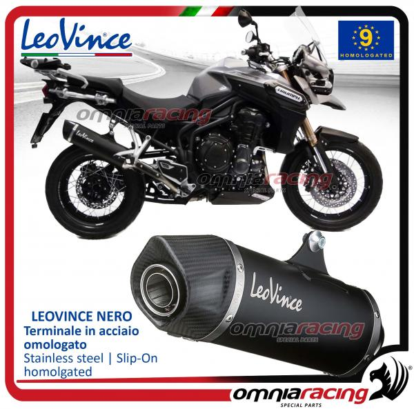 Leovince Nero Slip On Exhaust Steel Homologated For Triumph Tiger Explorer 1200 20122015