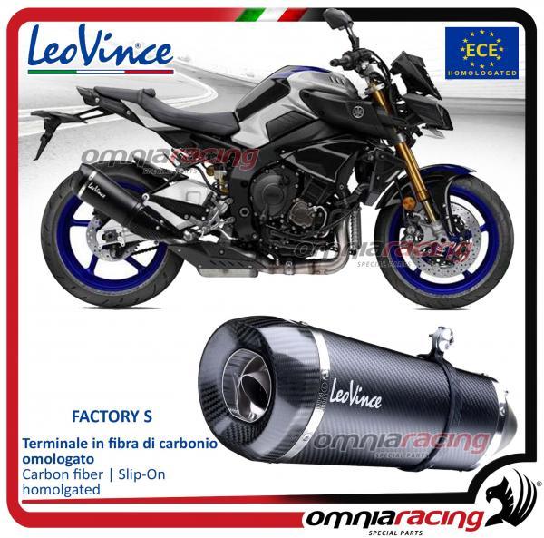 Leovince Factory S Slip On Exhaust System Carbon Homologated For Yamaha Mt10 Sp 2017
