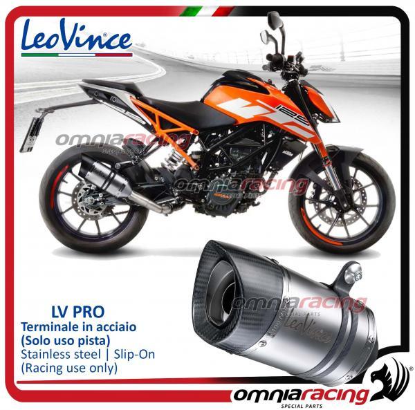 Ktm Duke 390 2017 Price >> Leovince Lv Pro Slip On Exhaust Stainless Steel Race Use Ktm 390 125 Duke Rc 390 125 2017