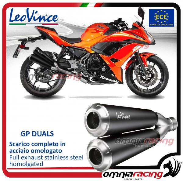 Leovince Gp Duals Full System Exhaust Inox Homologated For Kawasaki