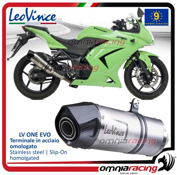 Leovince Lv One Homologated Steel Exhaust For Kawasaki Ninja 250r