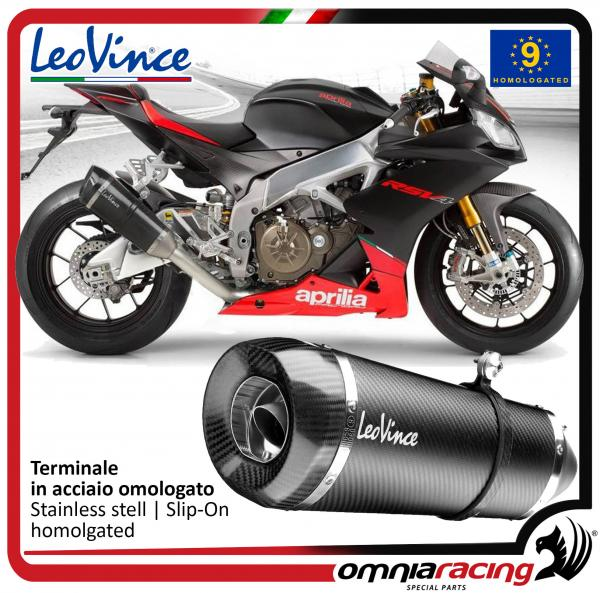 Leovince Factory S Slip On Exhaust System Carbon Homologated For