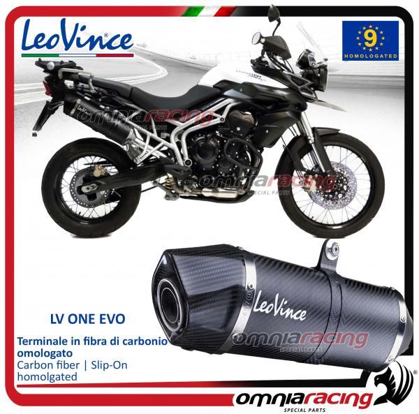 Leovince Lv One Homologated Carbon Exhaust For Triumph Tiger 800 Xc