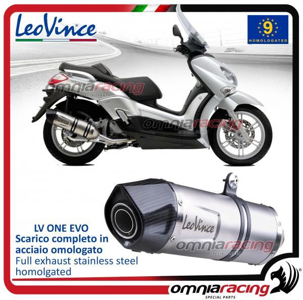 נפלאות Leovince Lv One Steel Slip-on Exhausts for Yamaha X-max 250 2006 HS-82
