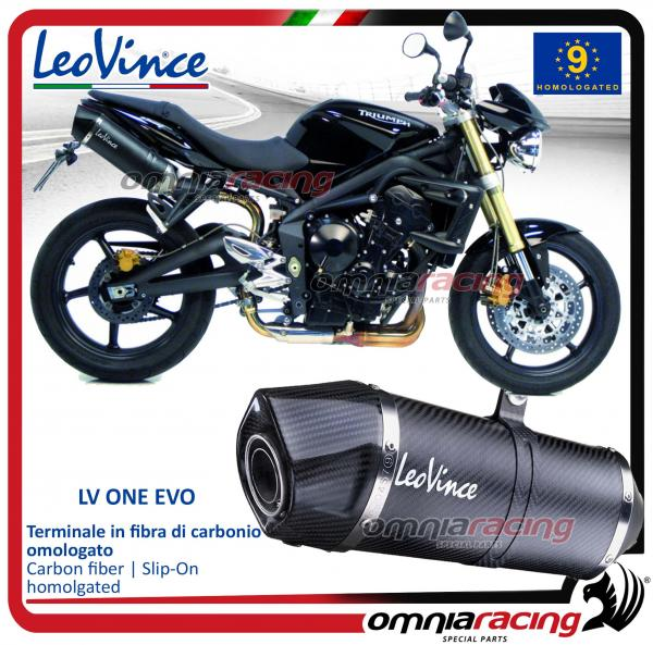 Leovince LV One EVO 2 homologated carbon exhausts for Triumph Street Triple  675 2007>2012