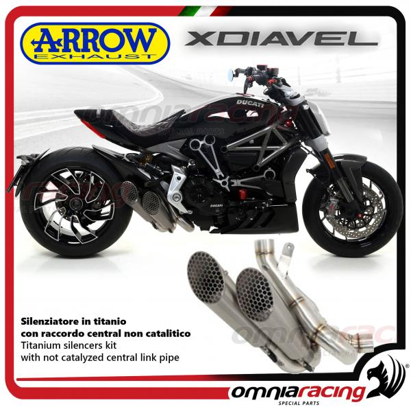 Arrow Exhaust Pro Race Titanium Silencer Not Homologated For Ducati Xdiavel 2016 2017 71204pr