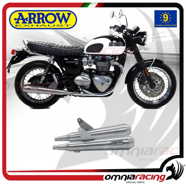 Arrow Pair Exhausts Pro Racing Stainless Steel Homologated For