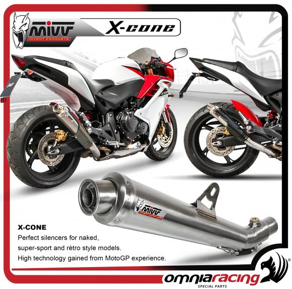 Mivv X-Cone Steel homologated Slip On Exhaust Silencer for HONDA Hornet 600  2007>