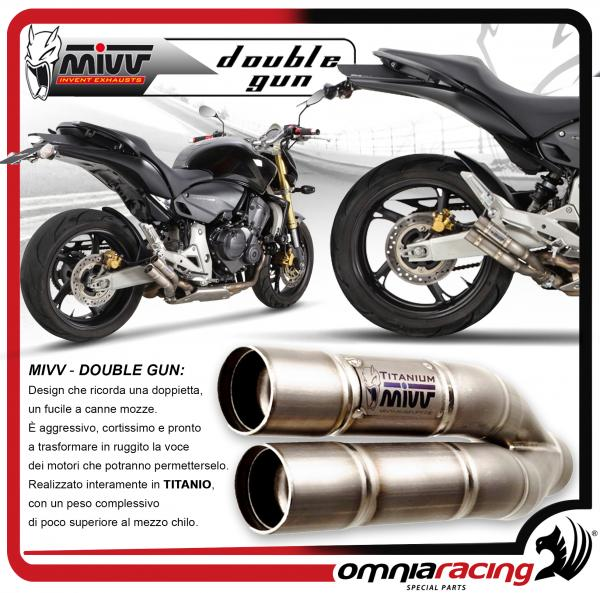 Mivv Double Gun Homologated Full Titanium Slip-on Exhaust for HONDA Hornet 600 2007 07>