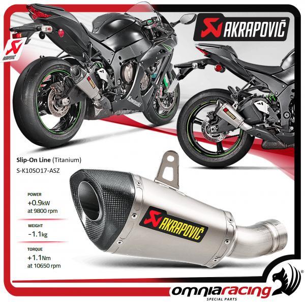 Akrapovic Tubo De Escape Titanio Racing Kawasaki Ninja Zx 10r 16 Ebay