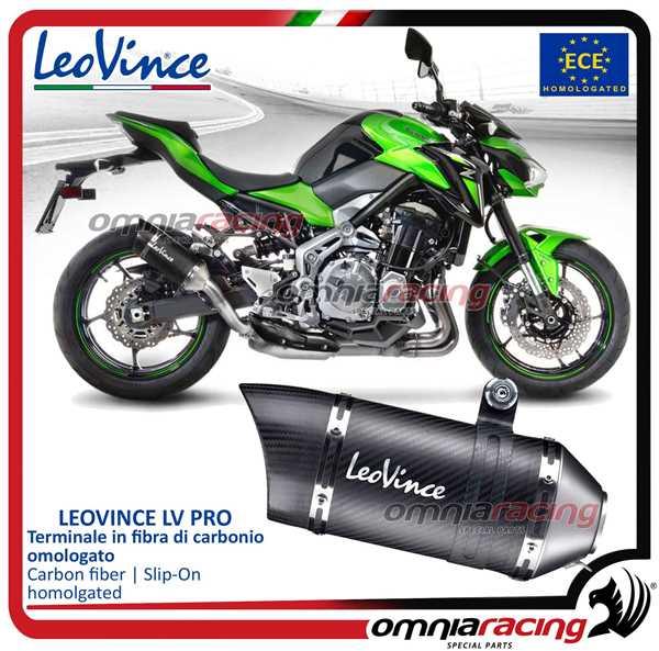 Leovince exhaust slip-on LV PRO carbon fiber homologated for KAWASAKI Z900  2017