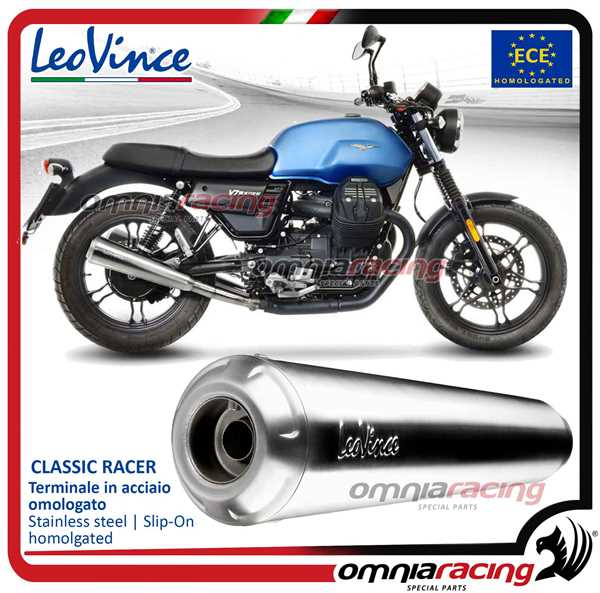 Leovince Pair Of Exhaust Slip On Classic Racer Inox Homologated Moto