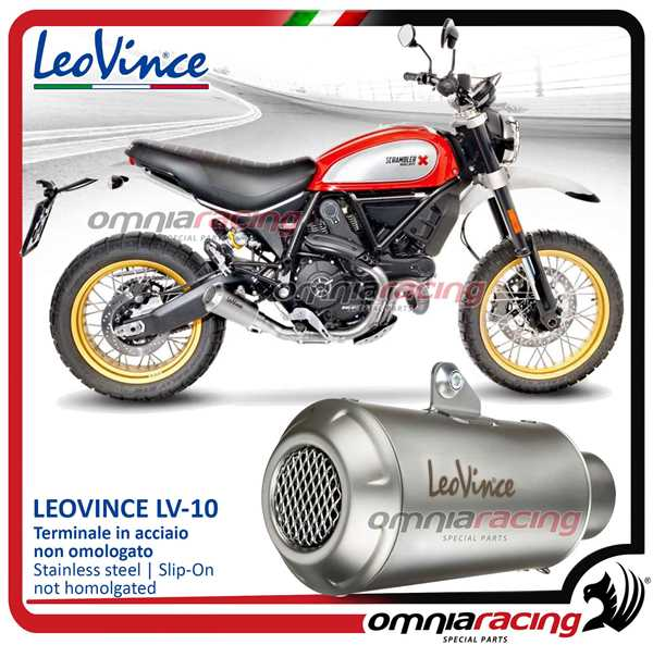Leovince Exhaust Slip On Lv 10 Inox Not Homologated For Ducati