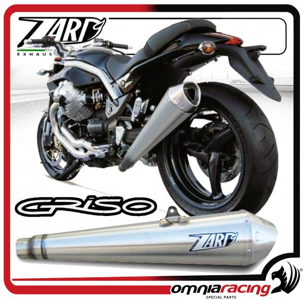 Details about Zard Conical Steel Racing - Slip On Exhaust for Moto Guzzi  Griso