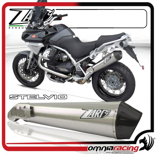 Details about Zard Conical Steel/Carbon Racing - Slip On Exhaust for Moto  Guzzi Stelvio 1200