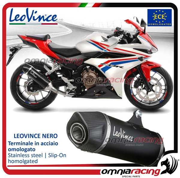 Leovince Exhaust Nero Steel Approved For Honda Cbr500r 20162017 Ebay
