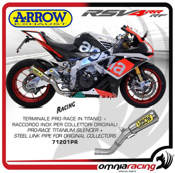 Arrow Exhaust Pro-Race titanium Silencer and steel link pipe Not homologated Aprilia RSV4 RR/ RF 15>
