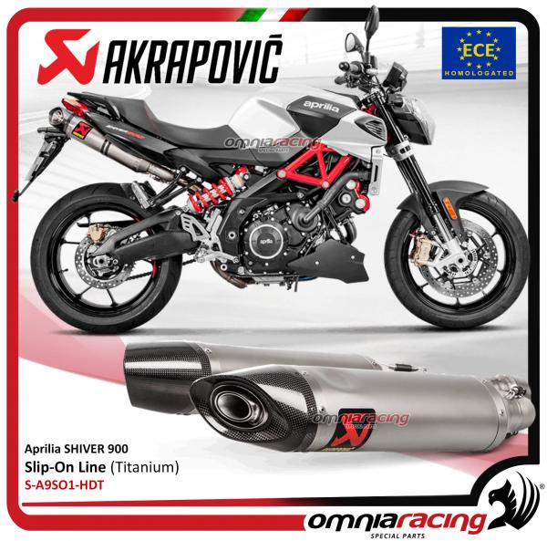 akrapovic pair of titanium exhaust slipon for aprilia. Black Bedroom Furniture Sets. Home Design Ideas