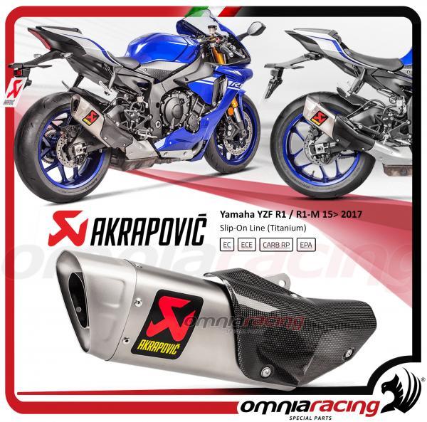 Akrapovic Slip On Line Titanium For Yamaha YZF R1 R1M 2015 15 Homologated Exhaust