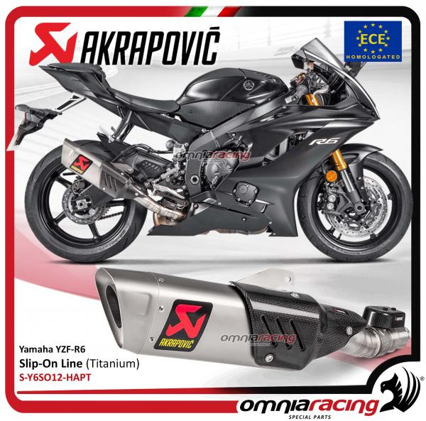 Akrapovic Slip On Line Exhaust System Euro4 Street Legal Titanium For YZF Yamaha R6 2017