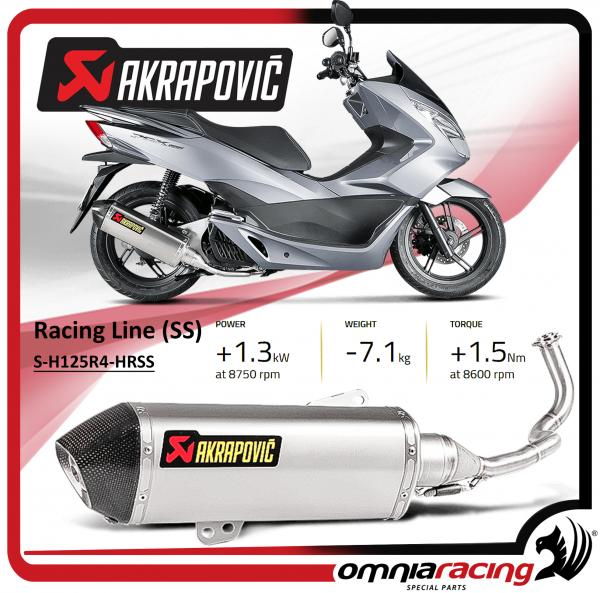 akrapovic pot d 39 echappement acier racing honda pcx 125 150. Black Bedroom Furniture Sets. Home Design Ideas