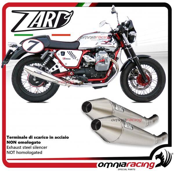 Details about Zard 2 exhausts slipon silencer racing Moto Guzzi V7 cafe  racer / classic 09>12