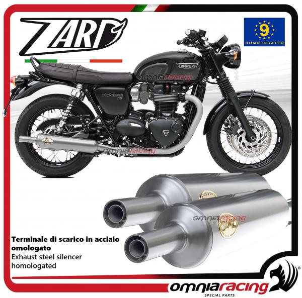 Zard Pair Of Exhaust Slipon Steel Silencer Homologated For Triumph