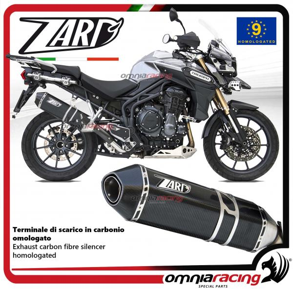Zard Exhaust Carbon Fibre Silencer Homologated For Triumph Tiger Explorer 1200 2012